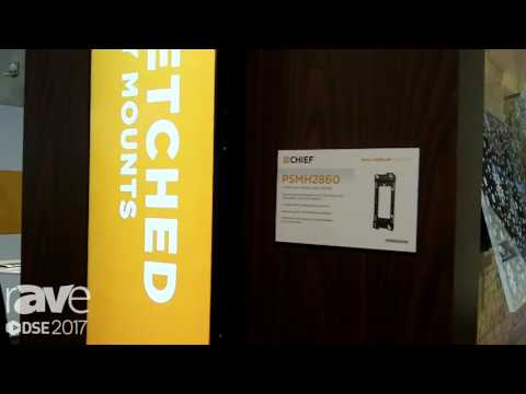 DSE 2017: Chief Explains PSMH2860 Display Mount for the LG 86-Inch Stretch Display