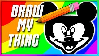 IS THAT MICKEY MOUSE?! | Draw My Thing Funny Game