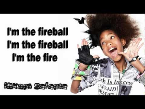 Willow Smith - fireball ft.Nikki Minaj (Lyrics On Screen)