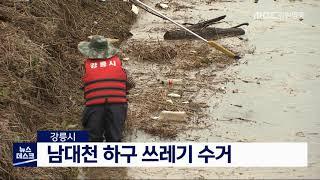 강릉시, 남대천 하구 쓰레기 수거