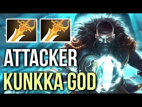 ATTACKER KUNKKA GOD vs Megacreeps! 2 Rapiers Try Hard Disaster Game 7k MMR Dota 2