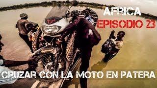 Cruzando el NIGER en PATERA con mi MOTO | Vuelta al mundo en moto | África #23 [ENG SUB]