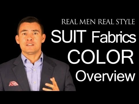 Men's Suit Color Video Guide - Charcoal - Light Grey - Navy Blue - Black - Brown - Tan - White
