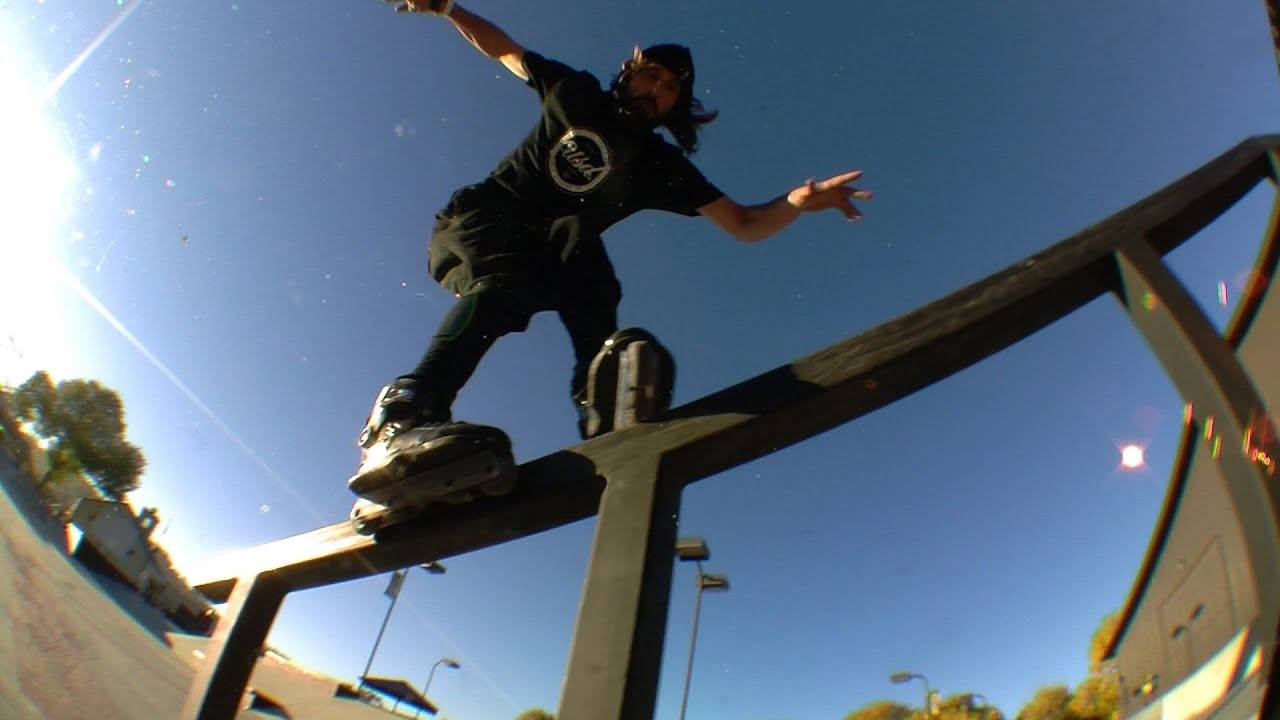 This is a collection of raw clips of Richie Eisler skating the new Franky Morales pro skate at Woodward West. The skates are customised all black with paint ...