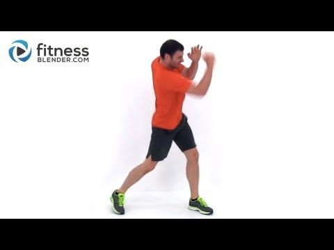 Cardio Kickboxing plus Abs and Obliques Workout - At Home Bodyweight Workout