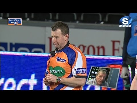 This is Nigel Owens, I can award the try ! - Ospreys v Cardiff Blues 21st March 2014