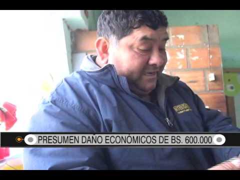 28/08/2014-12:23 PRESUMEN DAÑO ECONÓMICOS DE BS  600 000