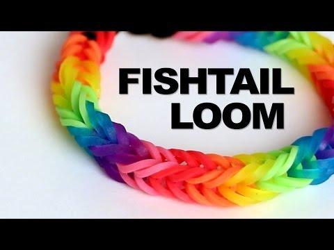 Fishtail Loom Bracelet - Tutorial    Rainbow Loom