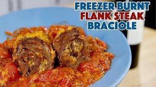 Make Do Braciole Recipe With Freezer Burnt Flank Steak