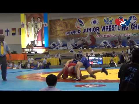 2012 Junior Worlds - FS 96kg - Tanner Hall (USA) vs. Robert Baran (USA)