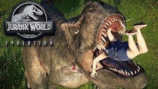 Jurassic World Evolution Gameplay German #24 - T-Rex Fight