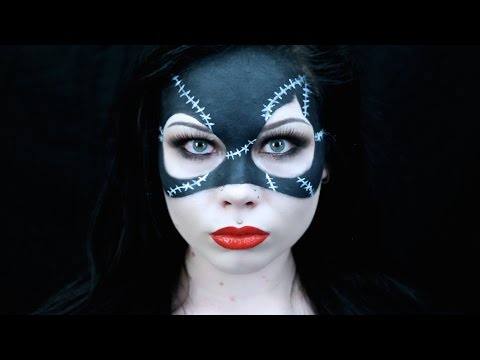 CATWOMAN MASK MAKEUP - HALLOWEEN COSTUME TUTORIAL *REQUESTED* 'BATMAN RETURNS' (1992) INSPIRED -