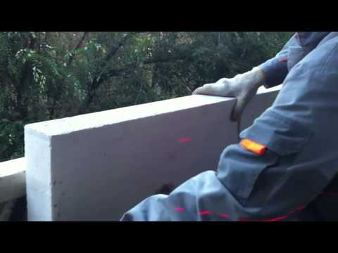 Пеноблоки, армирование и укрепление. кладка из пеноблоков на.
