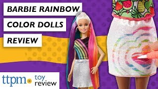 [Toy Review] Barbie Crayola Rainbow Fruit Surprise and Barbie Rainbow Sparkle Hair from Mattel