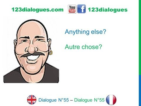 Dialogue 55 - English French Anglais Français - Ordering pizza on the phone - Commander une pizza