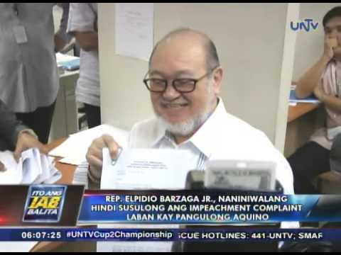 Rep. Elpidio Barzaga Jr., naniniwalang hindi susulong ang impeachment vs Pres. Aquino