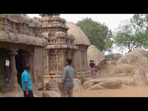 Mamallapuram & Mahabalipuram - Arjuna's Penance, Krishna's Butter Ball, Shore Temple etc.