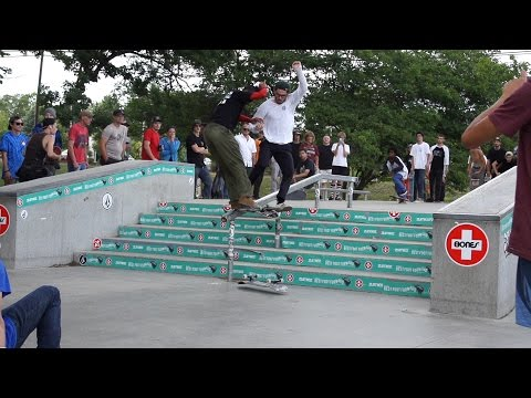 Zumiez best trick contest at Ann Arbor skatepark