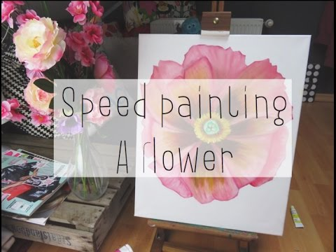 Speed painting a flower |Drawicorn