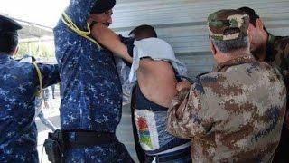 Suicide bomber arrest caught on camera