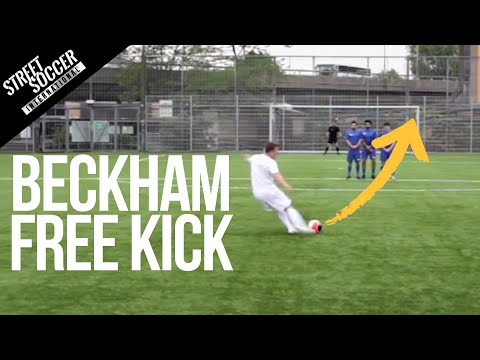 Learn David Beckham Free kick - STRskillSchool curve ball football Tutorial