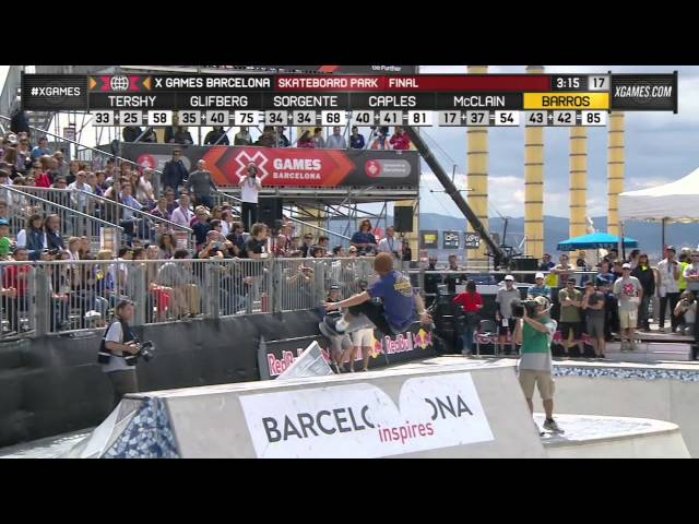 Pedro Barros wins Skateboard Park gold