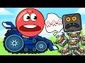 КРАСНЫЙ ШАРИК играет в ХИЩНЫЕ МАШИНЫ Машина ест машину 3 Car Eats Car Игра как мультик от Спуди mp3