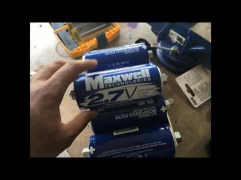 Replacing my Car Battery with 6 Maxwell 2.7v 3000F UltraCapacitors