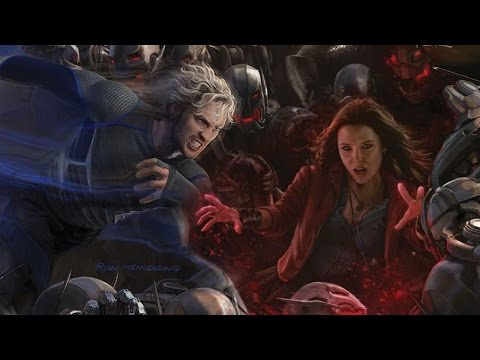 Avengers: Age of Ultron - Aaron Taylor Johnson & Elizabeth Olsen Talk Quicksilver & Scarlet Witch