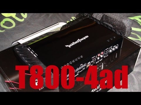 Unboxing Rockford Fosgate T800-4ad 4ch Amplifier - Power Series