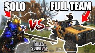 SOLO VS SQUAD DESTRUCTION! // 17 Kill BONUS Game! // Rules of Survival