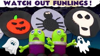 Watch Out Funny Funlings | Spooky Play Doh Logos and Thomas and Friends Toy Trains for kids TT4U