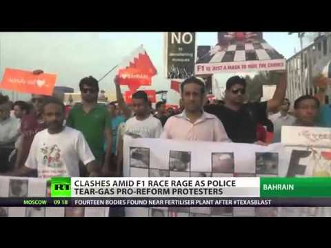 Bahrain CLASHES ahead of FORMULA 1 RACE: Riot BURN tyre and threw petrol BOMBS against the race