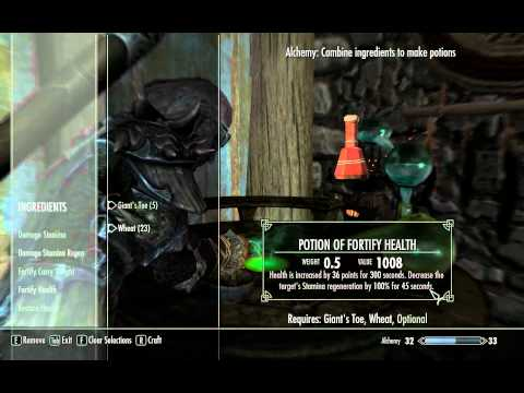 Skyrim how to level your ALCHEMY to 100 FAST. Tip for 360/PC/PS3