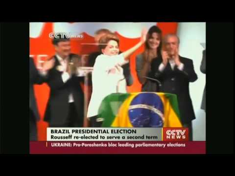 Brazilian President Rousseff re-elected to serve a second term