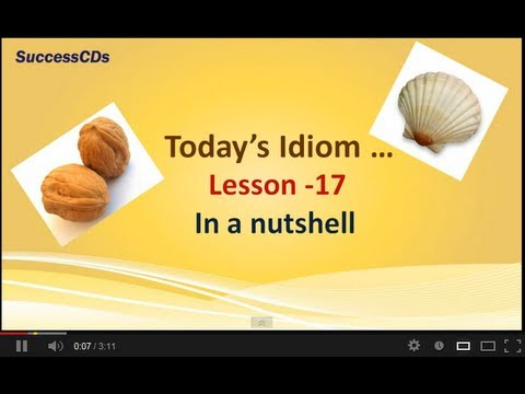 English Idioms Lesson 17 - In a Nutshell