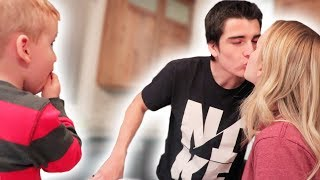 Toddler's Cute Reaction To Parents Kissing! (Warning: Very Funny )