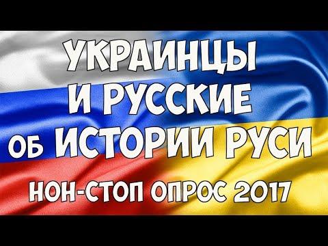 Украинцы и Русские об истории Руси. Нон-стоп опрос в Киеве и Москве