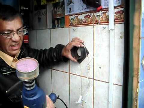perforador  de paredes de ceramica y porcelanato.I