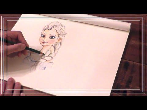 "Drawing ""Disney Frozen""アナと雪の ..."