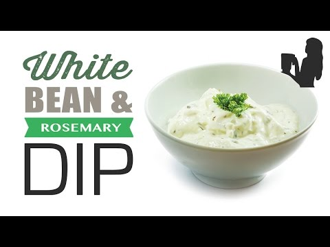 Lower Calorie White Bean & Rosemary Dip w/ Nutritionist Peggy K!