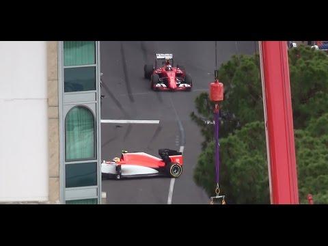 73° F1 Pure Sound HD grand prix MONACO 2015 + crash