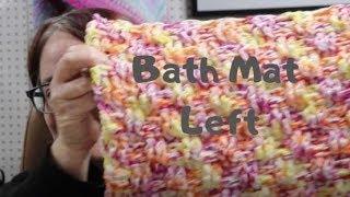 Basket Weave Bath Mat -Left Crochet Tutorial #FroggyDayCrochet