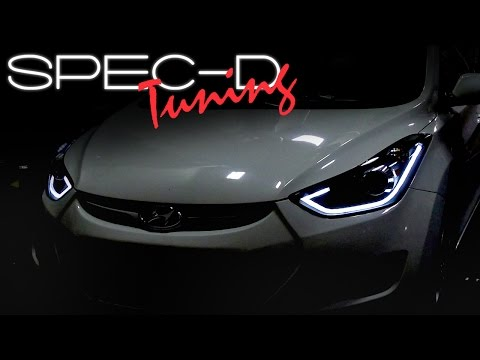 SPECDTUNING INSTALLATION VIDEO: 2011-2013 HYUNDAI ELANTRA PROJECTOR HEADLIGHTS