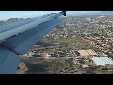 Airbus 321 Arriving at Phoenix Sky Harbor International Airport (KPHX)