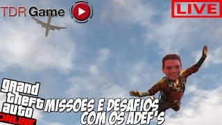 "LIVE GTA V On-line - ""ADEF's Missões e Desafios + Corridas + The Walking Dead MOD"""