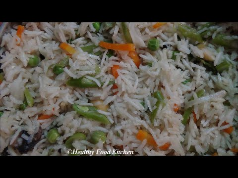 Vegetable Pulao Recipe-Pulao Recipe-Variety Rice Recipe By Healthy Food Kitchen
