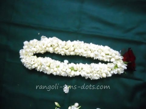 How to make a  jasmine garland – easy method