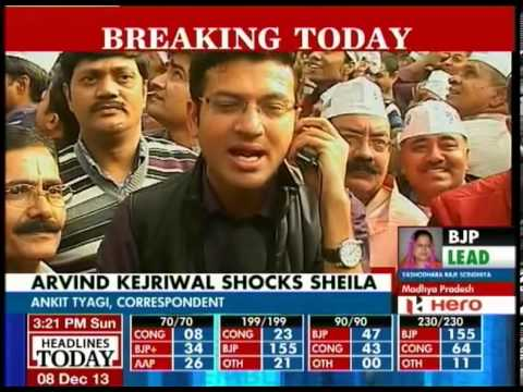 Delhi Election: Arvind Kejriwal defeats Sheila Dikshit