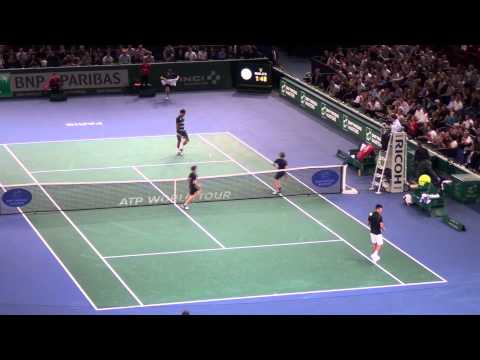 Roger Federer vs Novak Djokovic Paris 2013 Highlights